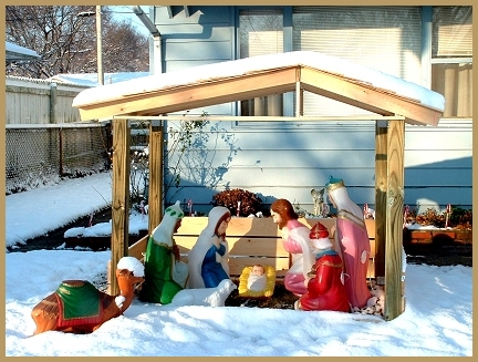 Outdoor Nativity Stable Plans http://www.navpooh.com/creche.html